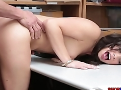 Seductive Taylor May caught shoplifting and fucked