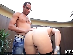 Boy explores shemale'_s butthole