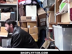 Shoplyfter - Shoplifting teen gets caught fucked in front of pa
