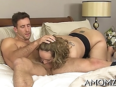 Older chick sucks and swallows