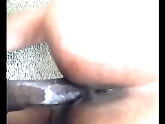 Sexy ebony with creamy pussy gets fucked unconnected with black cock