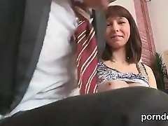 Nice schoolgirl gets tempted and penetrated by her older lecturer