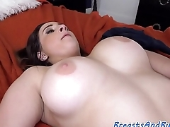 Busty babe enjoys sixtynine with her lover