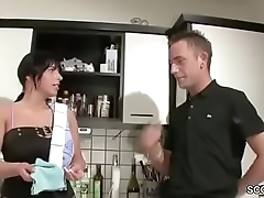German Hot Step-Mom Seduce to Fuck apart from Virgin Step-Son
